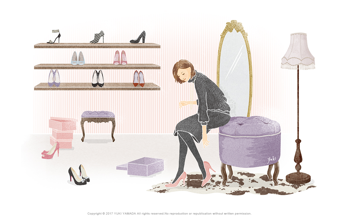 Choose shoes イラスト