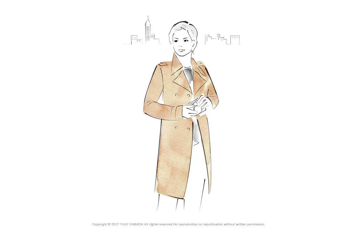 コートを着た男のイラスト