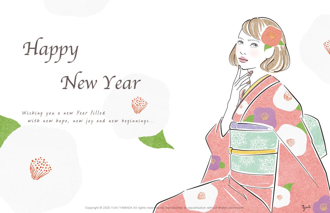 NEW YEAR GREETING2020 年賀状 イラスト