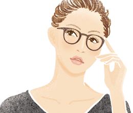 メガネの女性イラスト
