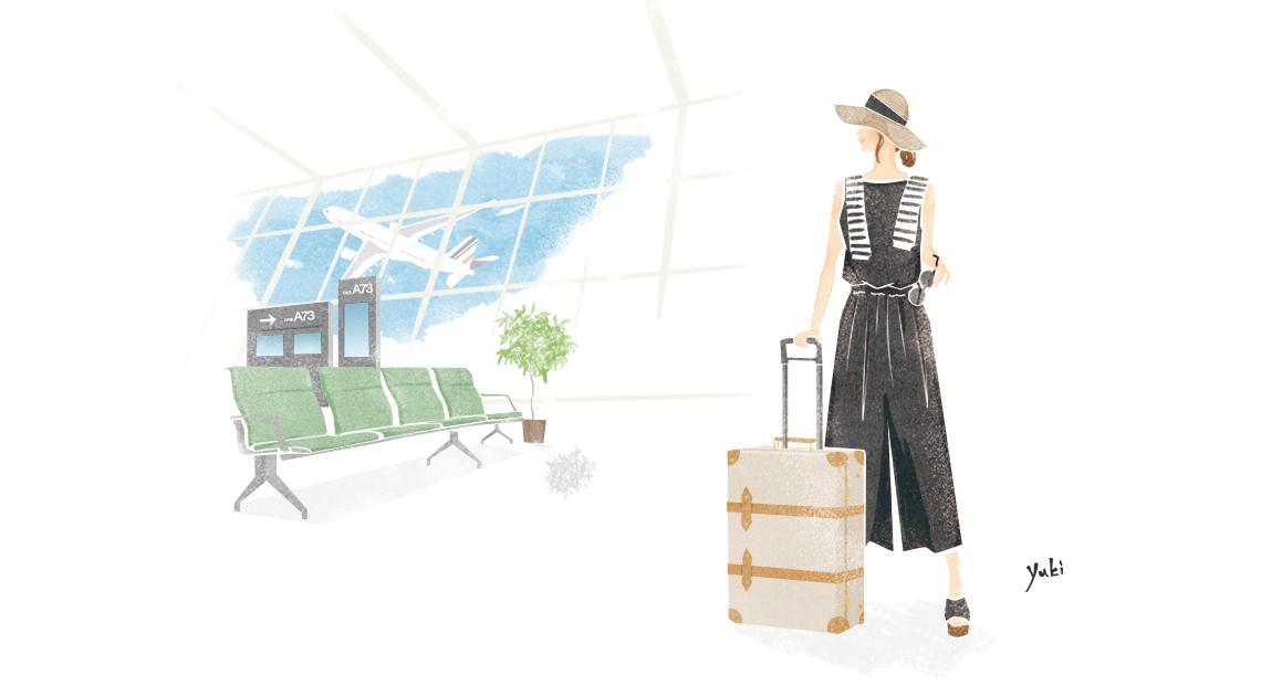 summer,travel, 夏旅,イラストレーション