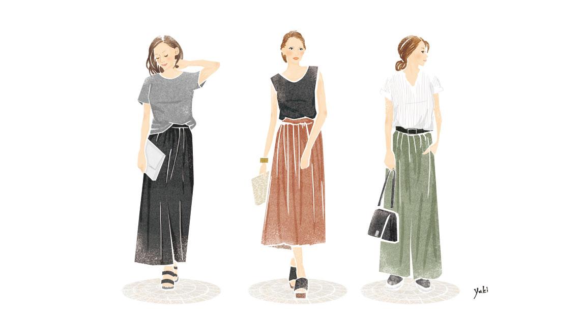 夏ファッションコーディネート
