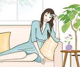 博報堂健康保険組合の冊子「Kenpo News」の婦人科ノートページのカットイラスト