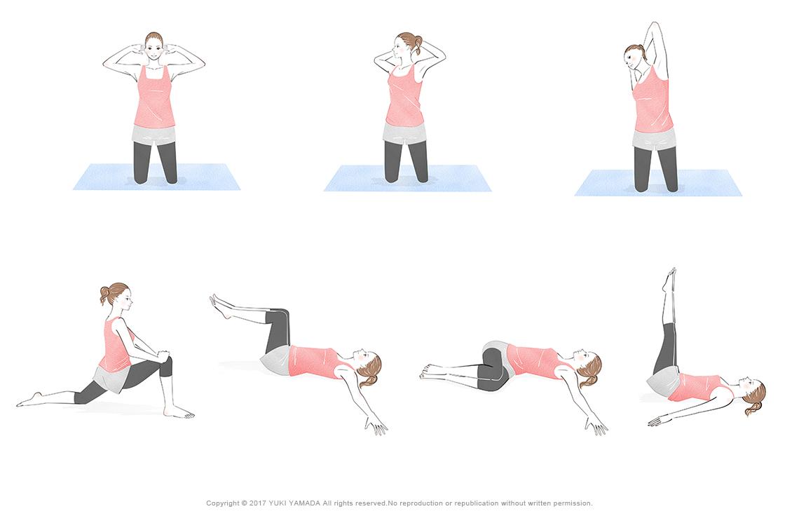 二の腕・下半身・腰回り・下っ腹のストレッチ&エクササイズ2