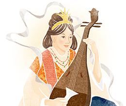 『全国神社の御朱印開運しあわせ散歩』のイラスト